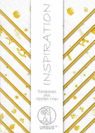 Transparentpapier Set Golden Line