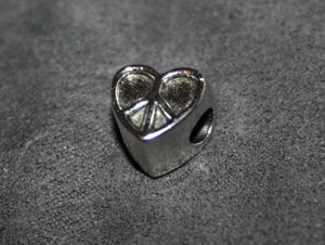 Metallperle Charms Friede silber