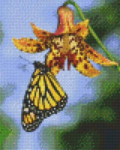px804476_Pixelset-Blume-mit-Schmetterling