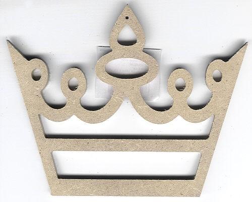 Holz-Dekor Krone geschwungen klein