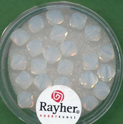 Swarovski Glasschliffperlen 6mm weiß opal