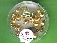 Glas-Rautenperle 6mm gold