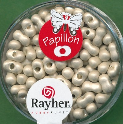 Papillon-Rocailles 3,2x6,5mm champagner gold