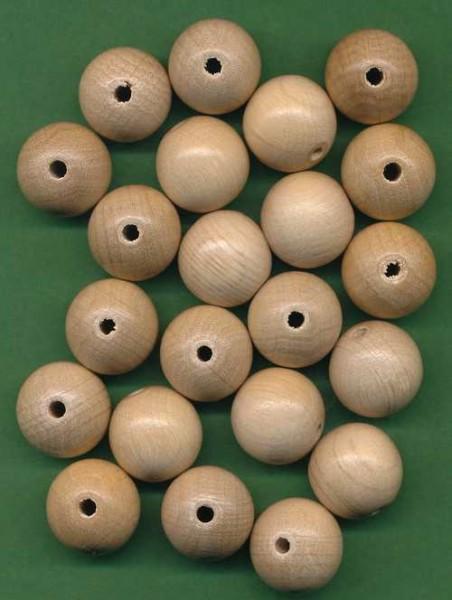 Holzperlen 16mm natur