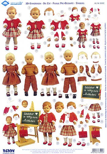 3D-Stanzbogen Schildkröt Puppen 2