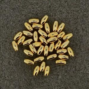 Oliven gold 3x6mm 35 Stück