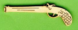Holz-Deko Pistole Vorderlader 6cm
