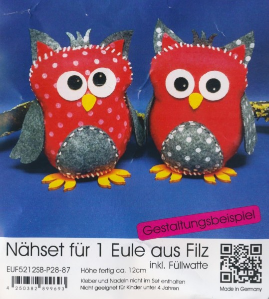 euf5212sbp2887_Filz-Nähset-Eule-mittel-rot-grau-meliert