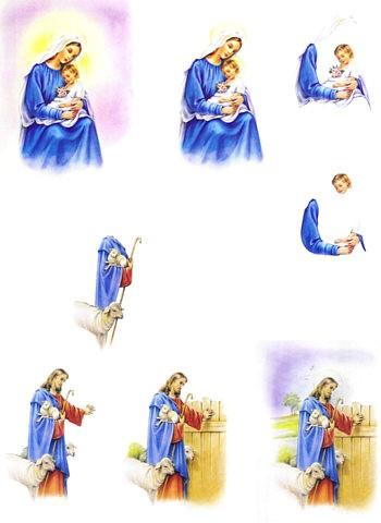 3D Bogen Jesus und Maria