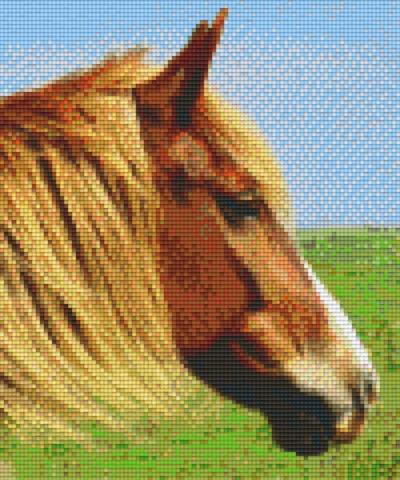 806154 Pixelhobby Set Pferd 13 mit 6 Platten