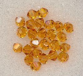 Swarovski Glasschliffperlen 3mm topas