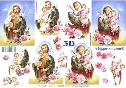 3D Bogen Josef und Kind