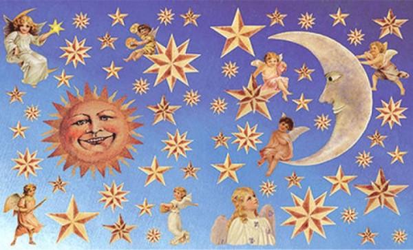 Decoupagebogen Sonne, Mond und Sterne