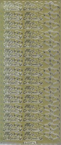 Sticker Wir heiraten II gold