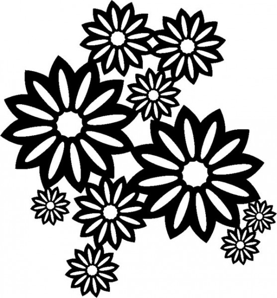Schablone Wild Blossoms 30x30cm