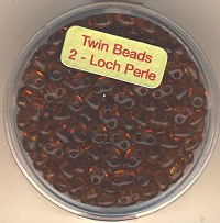Twin-Beads braun pearl 12g