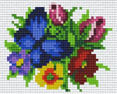 801334_Pixelset-Schmetterling-blau-mit-Blumen