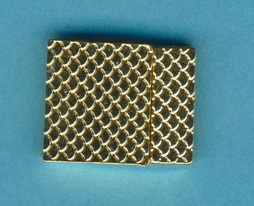 Magnetverschluss gold 26,5x21mm