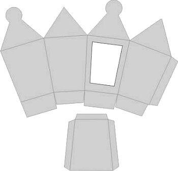 3D-Laternenbox silber