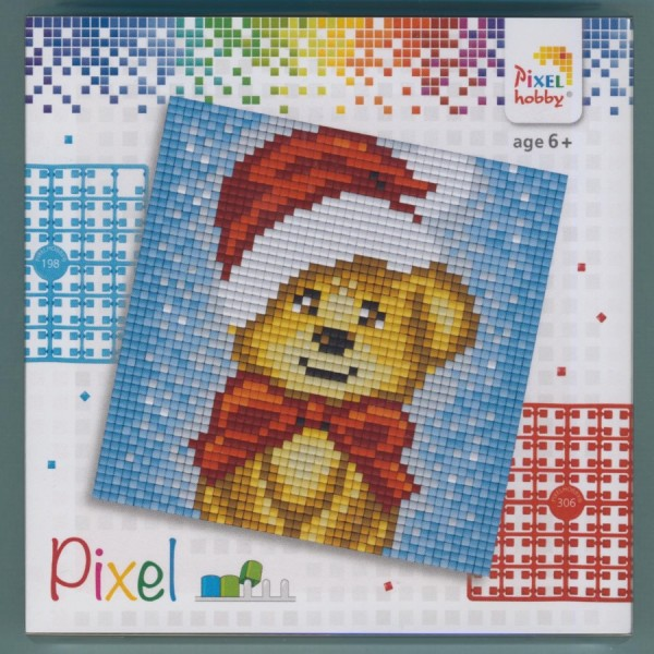 px44018_Pixelset-4-kleine-Basisplatten-Weihnachtsbär
