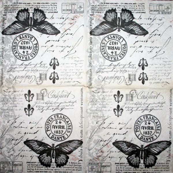 Serviette Schmetterlingspost
