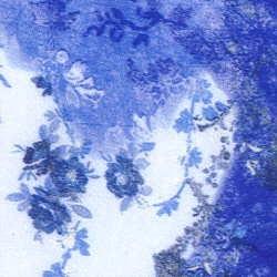 Vlies Flowers blau
