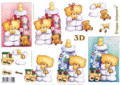 Motivbogen Babybär