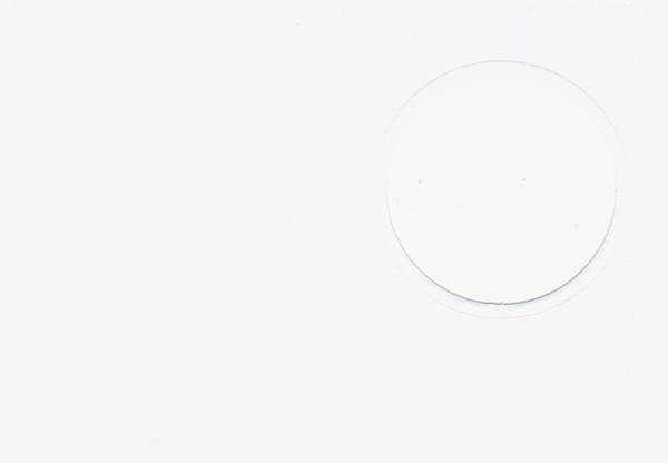 Fensterkarte A6 Kreis weiß