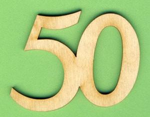 Jubiläumszahl 50 - 50mm