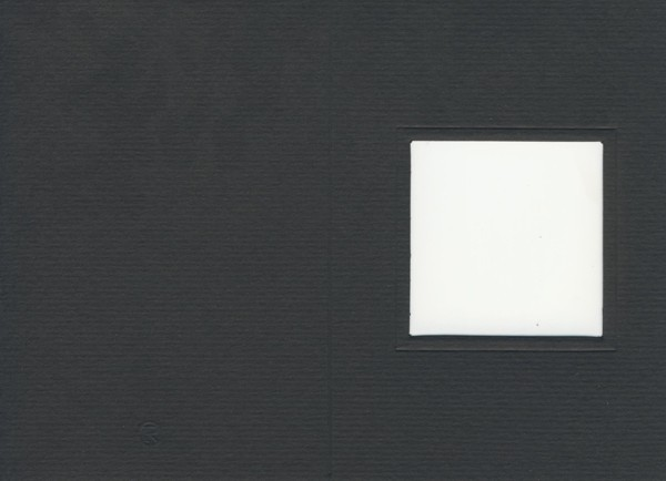 Fensterkarte A6 Quadrat schwarz
