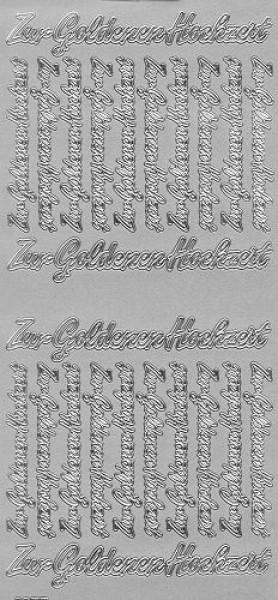 Sticker Zur goldenen Hochzeit 2 silber