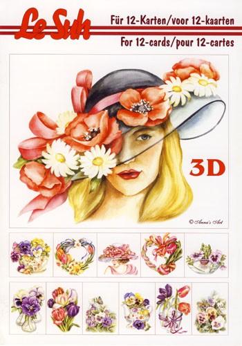 3D Motivbuch Frühlingsblumen A5