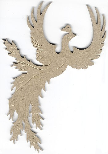 Holz-Dekor Paradiesvogel fliegend
