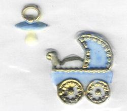 Wachsdekor Taufe blau