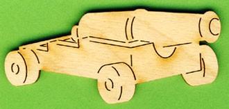 Holz-Deko Schiffskanone 8cm