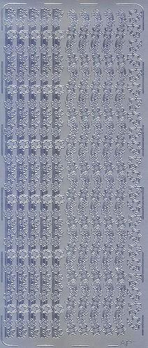 Sticker Sternenborten 3 silber
