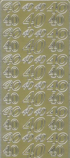 Sticker 40 gold