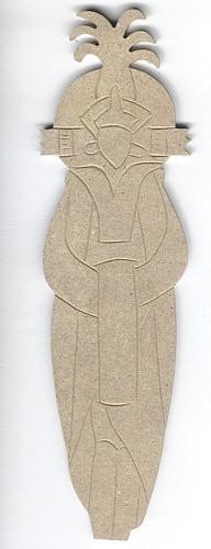 Holz-Dekor Afrikanische Puppe 2