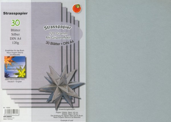 1625901_Strasspapier-silber-für-Origami-Sterne-DIN-A4-120g-qm-30-Blatt