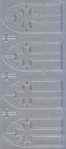 Sticker Kreuze silber