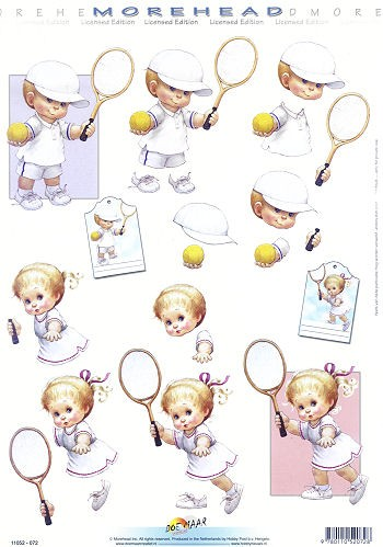 3D Motivbogen Morehead Tennis