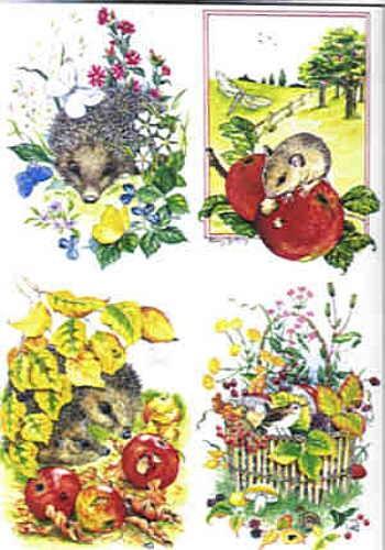 Motivbogen Herbsttiere