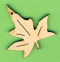 Holz-Deko Efeublatt 5cm