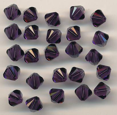Swarovski Glasschliffperlen 6mm purple velvet