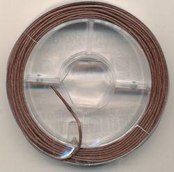 Schmuckkordel mittelbraun 0,8mm 10m