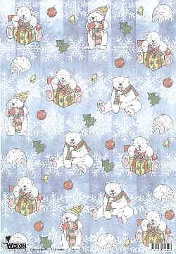 Transparentpapier Eisbären