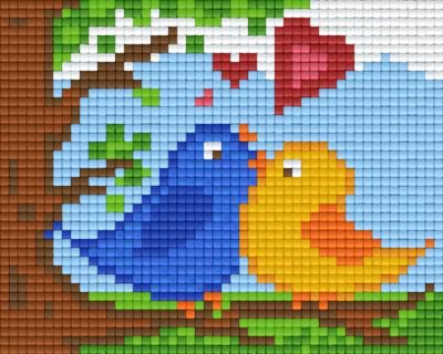 Set Vögel verliebt