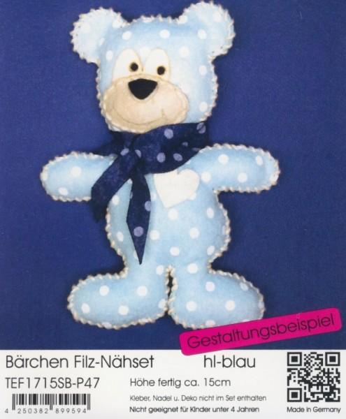 Filz-Nähset Bärchen hellblau