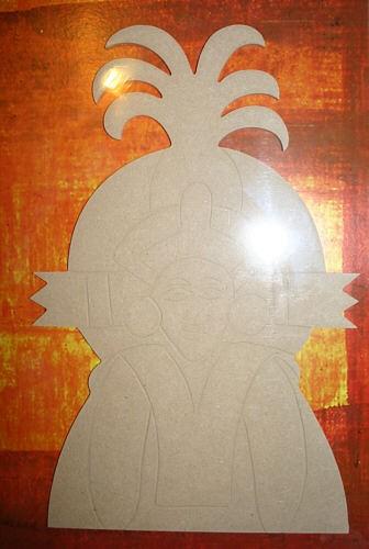 Holz-Dekor Ethno Maske
