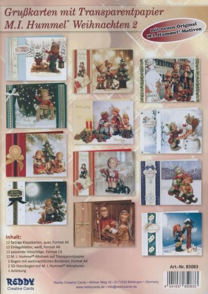 Set Grußkarten mit Transparentpapier M.I. Hummel Weihnachten 2